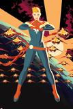 Captain Marvel No.1 Cover Kunst på  metal