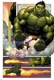 Totally Awesome Hulk No.3 Panel, Featuring Totally Awesome Hulk and Fin Fang Foom Poster