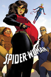 Spider-Woman No.2 Cover, Featuring Porcupine, Spider Woman, Captain Marvel and Ben Ulrich Print