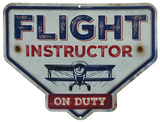 Flight Instructor Tin Sign