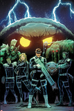 Howling Commandos of S.H.I.E.L.D. No.3 Cover, Featuring Orrgo, Manphibian, Jasper Sitwell and More Plastic Sign by David Marquez