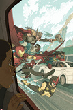 All-New, All-Different Avengers No.3 Cover, Featuring Thor (Female), Falcon Cap, Iron Man and More Affiches