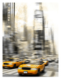 City Art Times Square Yellow Cabs Poster by Melanie Viola