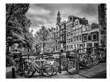 Amsterdam Flower Canal Reproduction procédé giclée par Melanie Viola