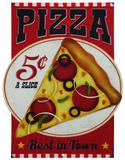 Pizza Plaque en métal