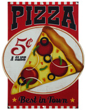 Pizza Cartel de chapa