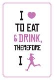 My Favorite Reasons To Run (Purple) Poster