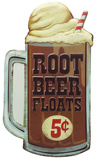 Root Beet Floats Tin Sign