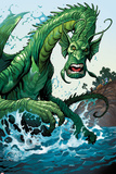 Totally Awesome Hulk No.2 Panel, Featuring Fin Fang Foom Plastic Sign