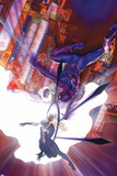 The Amazing Spider-Man No.7 Cover, Featuring Spider-Man, Cloak and Dagger Metal Print by Alex Ross
