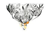 Deer Print by  okalinichenko