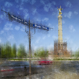 City Art Berlin Victory Column Print by Melanie Viola