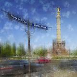 City Art Berlin Victory Column Stampa di Melanie Viola