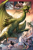 Totally Awesome Hulk No.3 Panel, Featuring Fin Fang Foom Posters