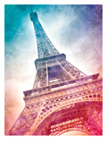 Modern Art Paris Eiffel Tower Prints by Melanie Viola
