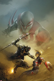 Spider-Man 2099 No.4 Cover, Featuring Spider-Man 2099, Venture (Kweeg) and More Metal Print