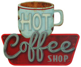 Hot Coffee Tin Sign