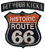 Route 66 Linked Sign Tin Sign