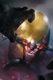 Spider-Man 2099 Cover, Featuring Lash and Spider-Man 2099 Metal Print