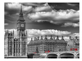 London Big Ben & Red Bus Kunst av Melanie Viola