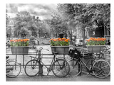 Typical Amsterdam - Panoramic View Poster von Melanie Viola