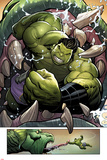 Totally Awesome Hulk No.3 Panel, Featuring Totally Awesome Hulk and Fin Fang Foom Posters