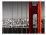 Golden Gate Bridge Panoramic View Giclée-tryk af Melanie Viola