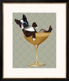 Boston Terrier in Cocktail Glass ポスター : ファブ・ファンキー