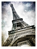 Modern Art Paris Eiffel Tower Splashes Poster di Melanie Viola