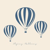 FLYING BALLOONS VECTOR ILLUSTRATION Print by  olive1976