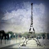 Digital-Art Paris Eiffel Tower No.1 Plakat af Melanie Viola