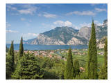 Lake Garda Panoramic View Giclée-trykk av Melanie Viola
