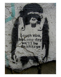 Laugh Now Prints by  Banksy