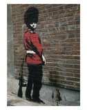 Pissing Soldier Poster by  Banksy