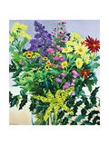 Winter Flowers and Leaves Giclee Print by Christopher Ryland