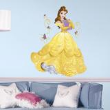 Disney Sparkling Belle Peel and Stick Giant Wall Decals - Duvar Çıkartması