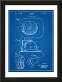 Firemen Helmet Patent Posters