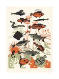Orange Seaweed Fish, 2015 Giclee Print by Eliza Southwood