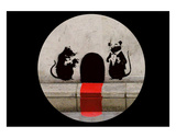 Red Carpet Rats Print by  Banksy