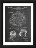 Camouflage Military Helmet Patent Poster