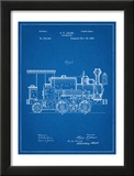 Train Locomotive Patent Poster