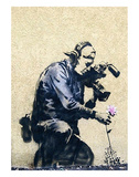 Photographer Flower Prints by  Banksy