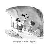 """Pictographs or it didn't happen."" - New Yorker Cartoon Premium Giclee Print by Pat Byrnes"