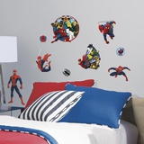 Spider-Man Ultimate and Team Hero Peel and Stick Wall Decals Vinilo decorativo