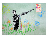 Gun Prints by  Banksy