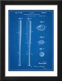 Baseball Bat Patent 1938 Posters