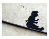 Bubble Girl Posters by  Banksy