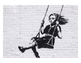 Girl on a Swing Posters by  Banksy