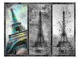 City-Art Paris Eiffel Tower Collage Posters by Melanie Viola