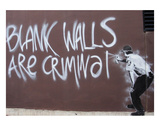 Blank Walls Are Criminal Posters by  Banksy